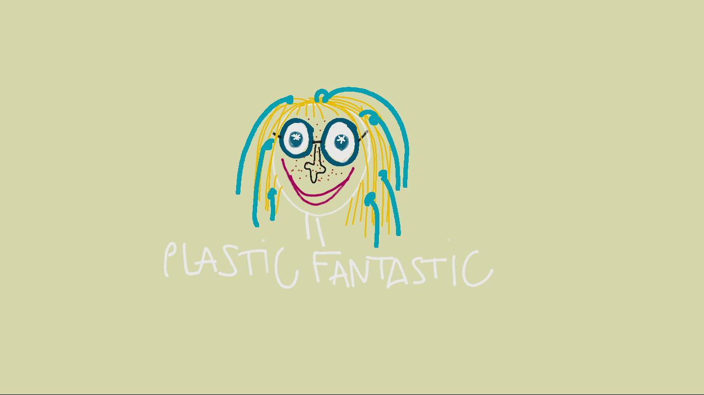 Illustrasjon av liten jente med plast i håret.